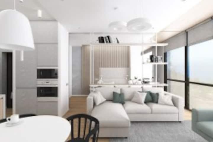 Дизайнерские апартаменты в центре Сочи
