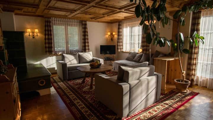 Ski/Bike- &Familienwohnung im Zentrum von Klosters