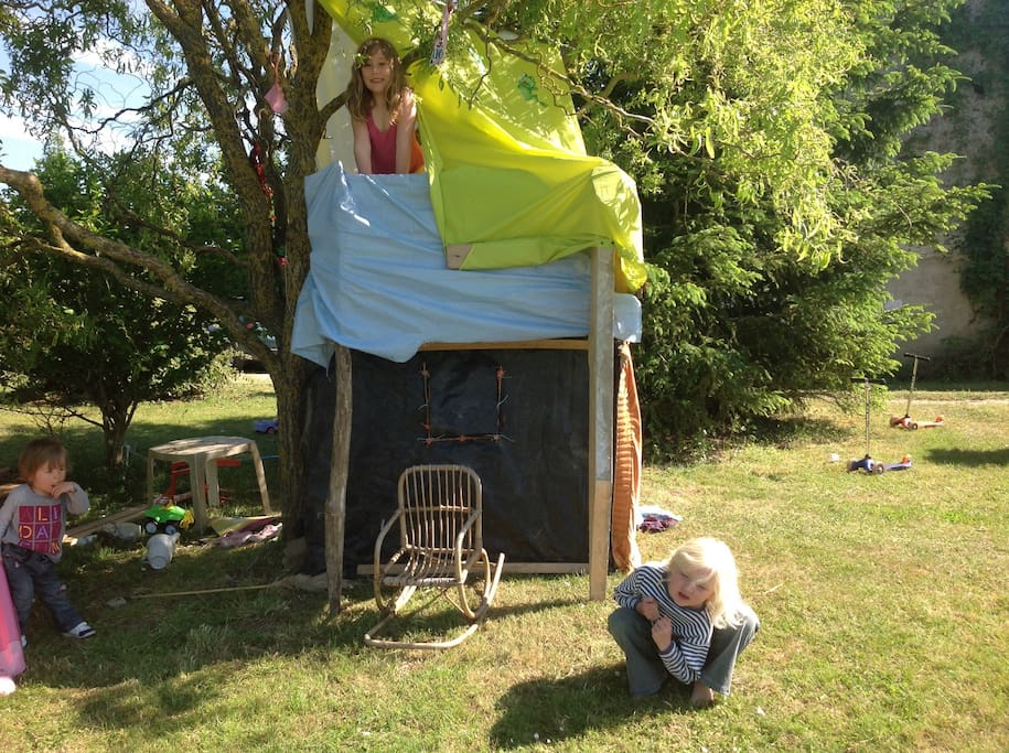 Lots of places for children to make dens and play outside
