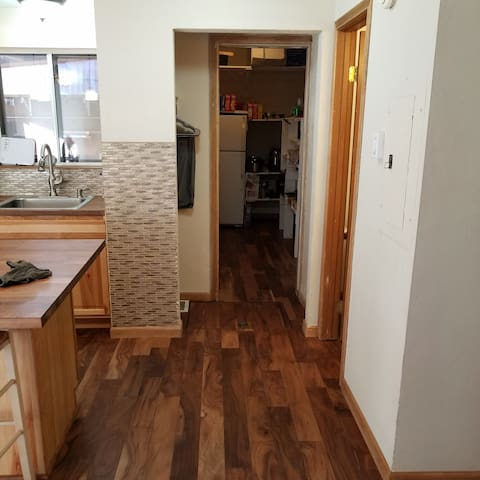 Kitchen looking to pantry and 2nd fridge