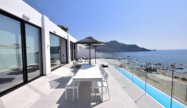Nostos Beachfront Seaview Private Villa with Pool