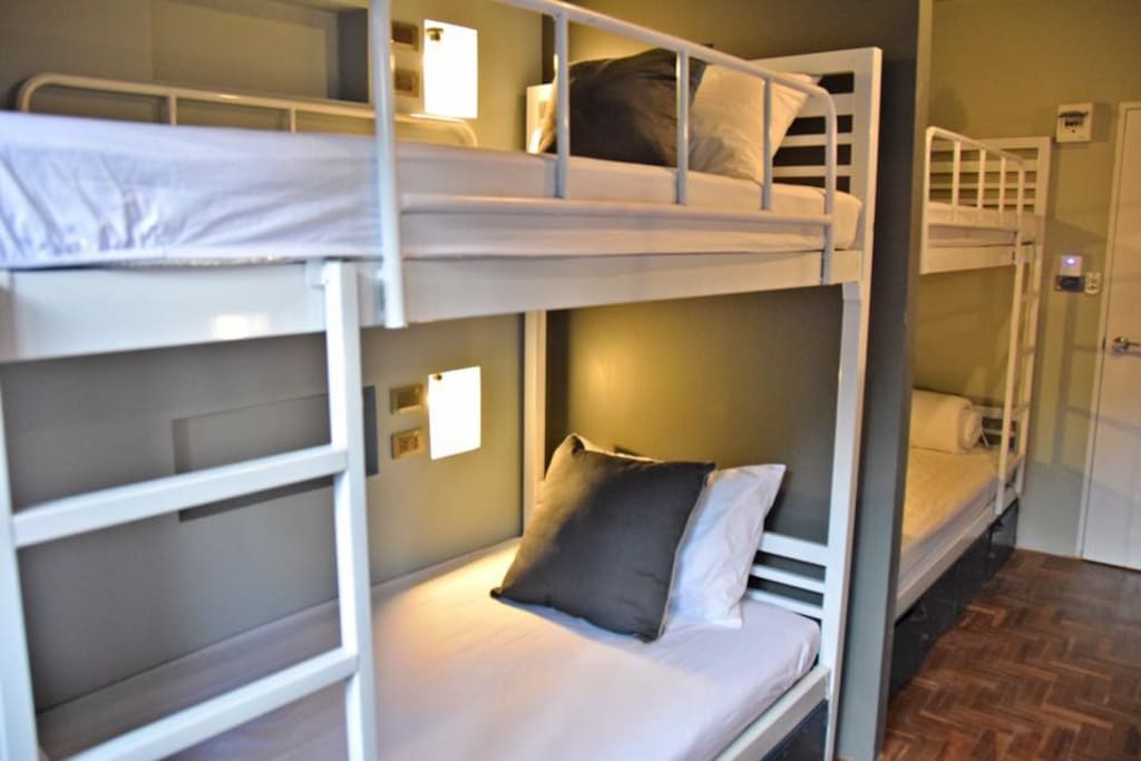 1 bed in 8 bed Dormitory rooms