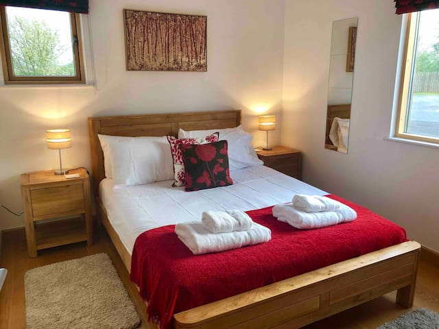 Downstairs double bedroom with ensuite bathroom
