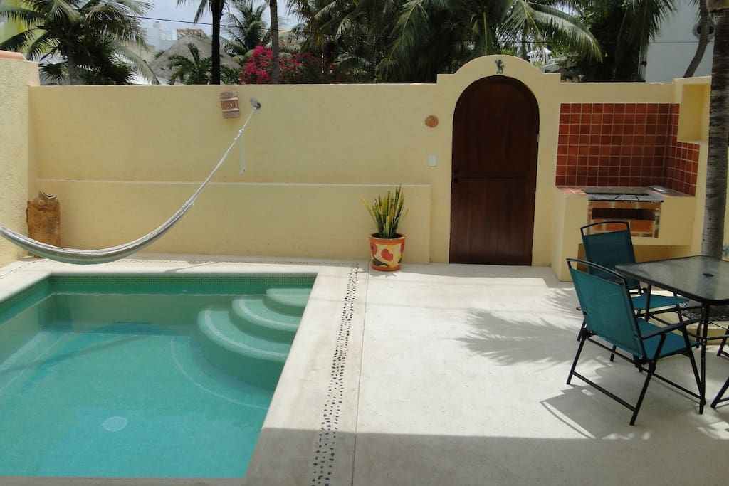 Our pool area is perfect for outdoor entertaining.