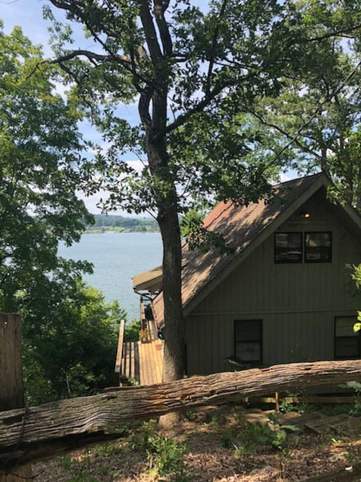 Tucked in the woods, right on the lake