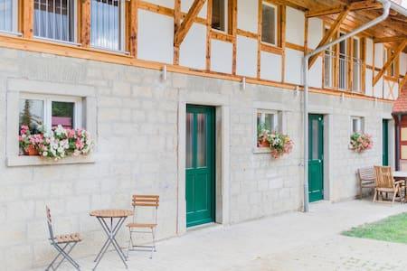 Traumhafte Ferienwohnung mit Bachlauf im Garten - Simmershofen - Wohnung