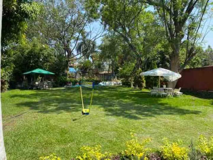 Quinta las Mercedes, hermoso Jardín plan familiar