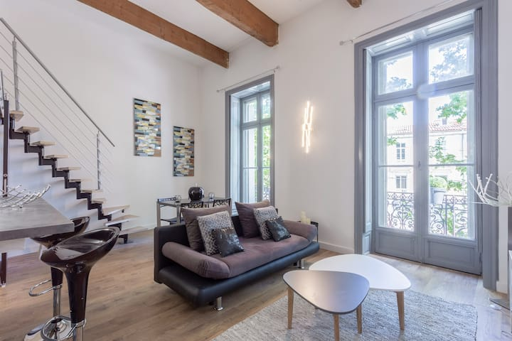 Loft rénové de 46 m² av clim  : « Yes week-end »