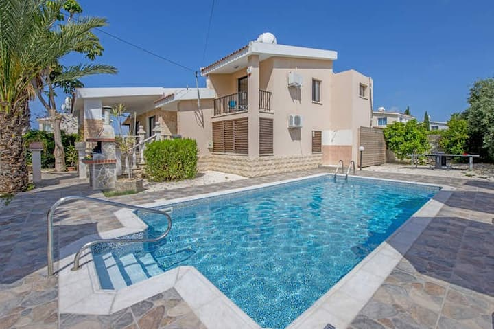 Villa Anthi 1km From Coral Bay Beach