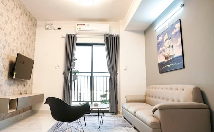 [Seaside] 2-Bedroom Apartment+Sunny Balcony-A4.10