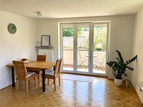 Ruhige Wohnung mit Balkon, 80m² am Ammersee