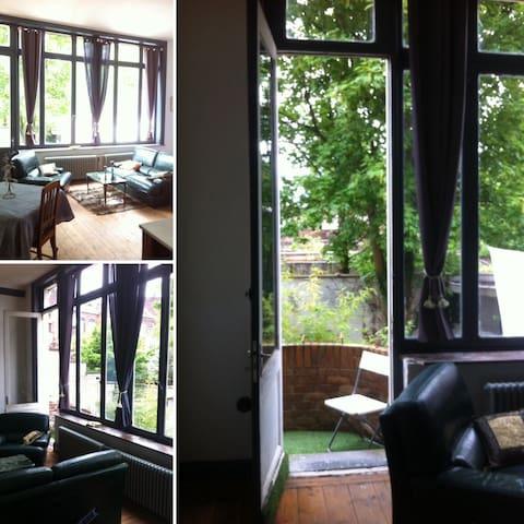 Très grand studio 40 m2 calme et lumineux - Tourcoing - Lägenhet