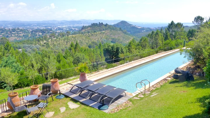Villa with 6 bedrooms in Mandelieu-la-Napoule, with private pool, enclosed garden and WiFi - 3 km from the beach