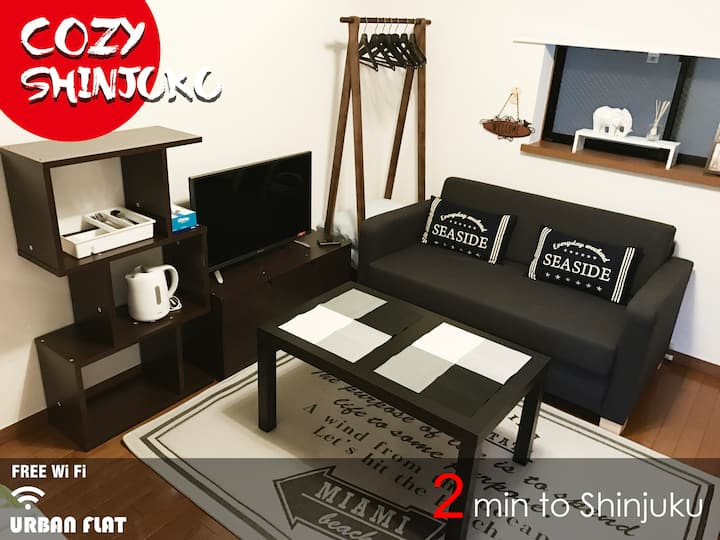 Cozy Urban Flat N.Shinjuku, 7mins walk to station