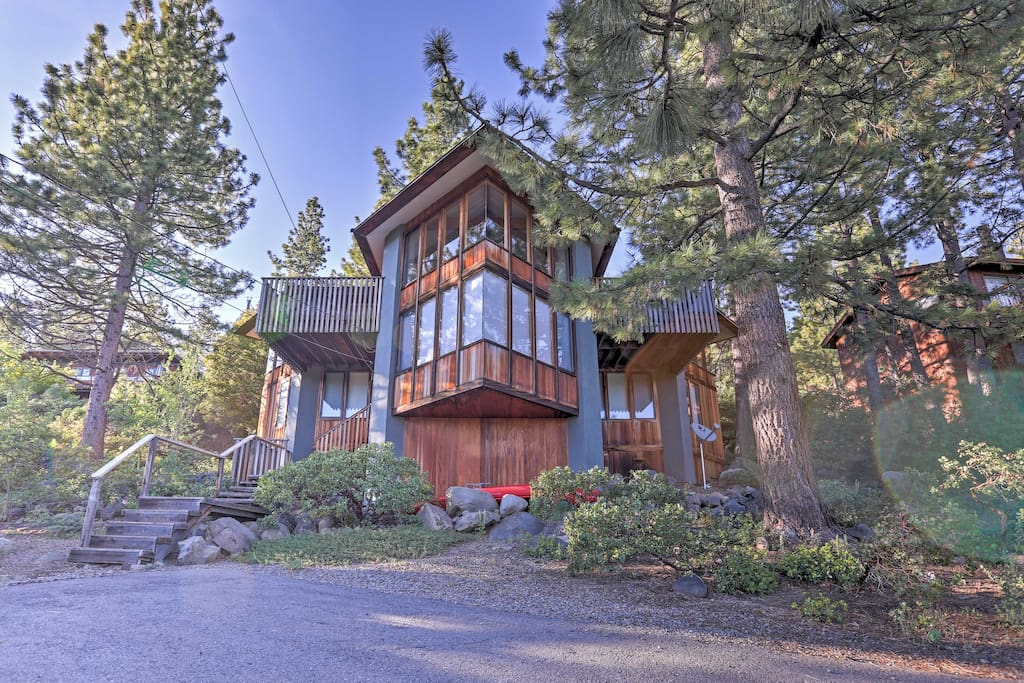 The property boasts over 2,000 square feet of living space and a private balcony overlooking the lake.