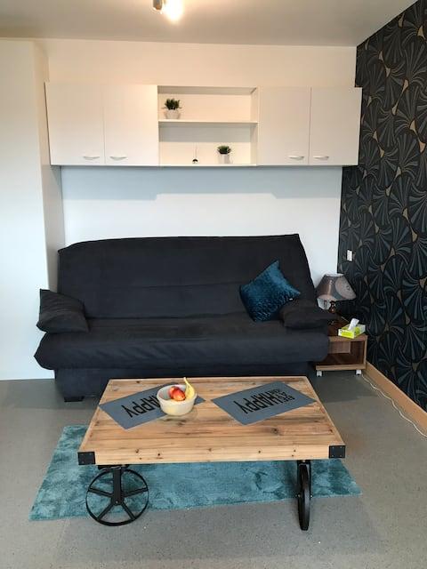 Studio with terrace not overlooked
