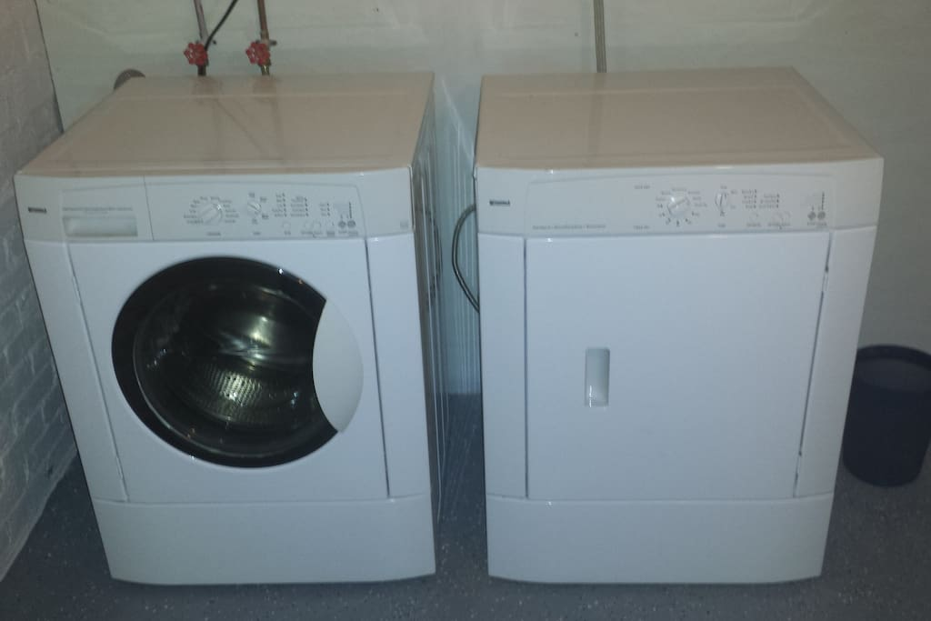 Free Washer & Dryer.  Laundry soap included.