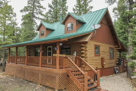 New this season, Moonlight Pines! Beautiful cabin nestled in the pine and Aspen trees