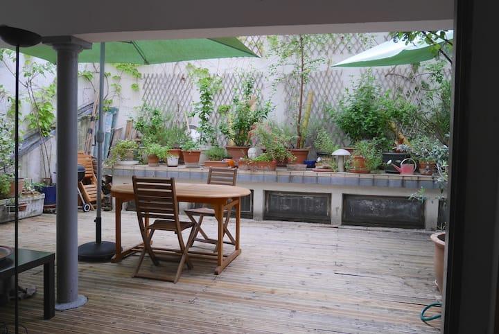 Chambre d 'hôte +gd terrasse calme