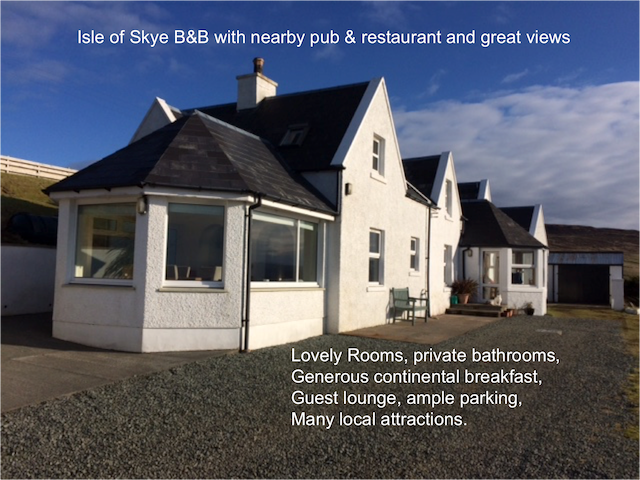 Isle of Skye B&B near Stein Pub, great views Bed 1 - Waternish - Bed & Breakfast