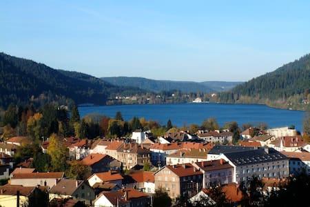 Vue panoramique sur lac et forêt - Gérardmer