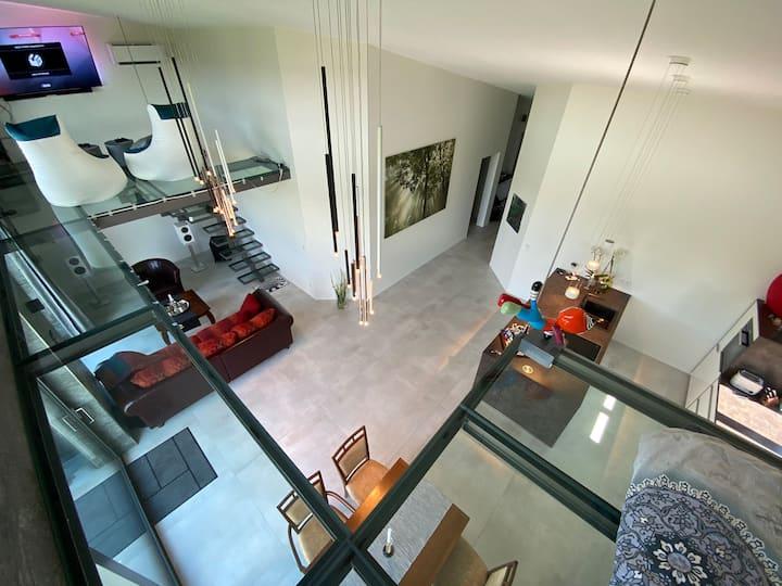 Wohlfühl-Oase-ZebraHaus: Glasgalerie+Kamin+Berlin🦓