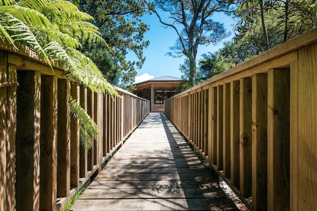 Boardwalk access to the Treehouse Nest