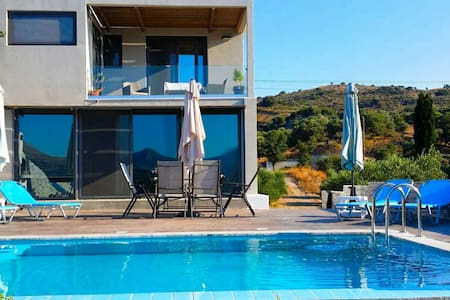 Luxury A1 villa Rethymno with pool - Rethymno