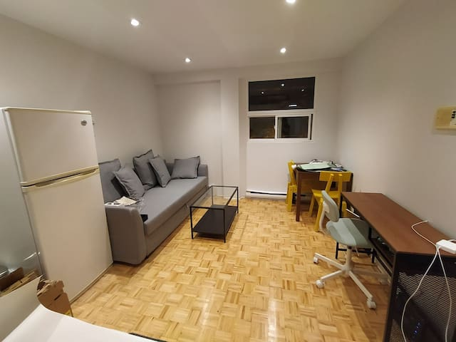 Private sunny downtown Apt, 2 mins from Subway