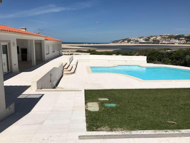 Exclusive Beach Villa: Front Line Sea Views & Golf