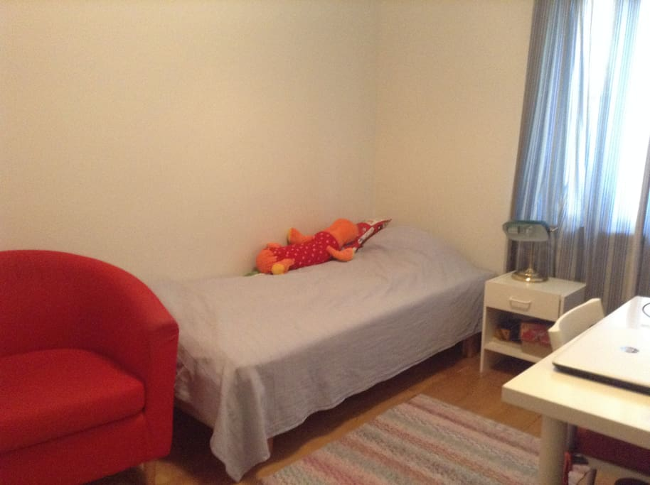 Second bedroom with 80cm bed