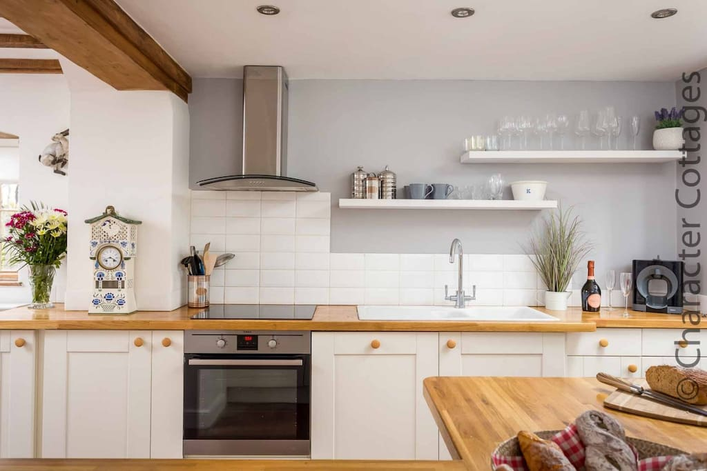 The modern, well presented kitchen...
