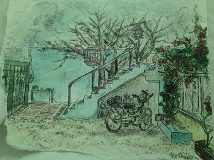 The Hobbit Jungle Room: a bike included