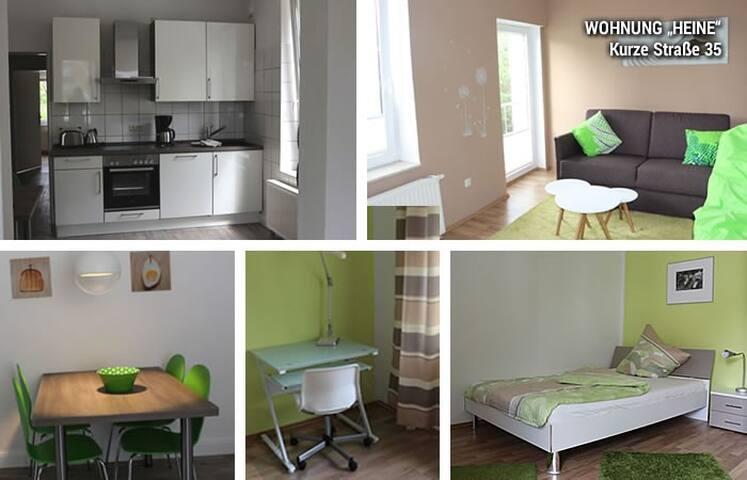 """Zentral und ruhig: 2-Zimmer-Wohnung """"Heine"""""""
