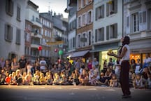 Street festivals in Vevey (only 8 minutes by car).