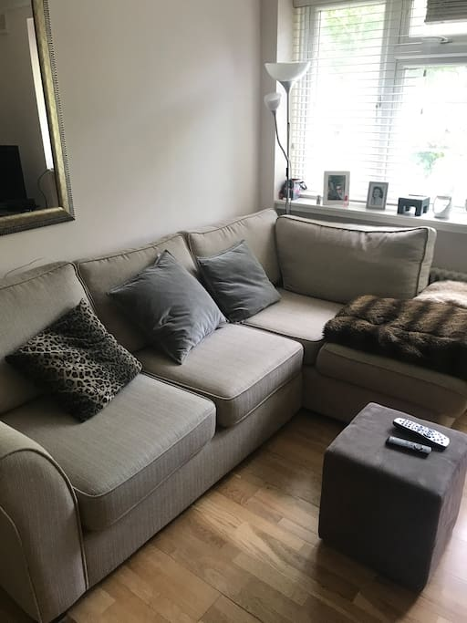 Our very comfy sofa