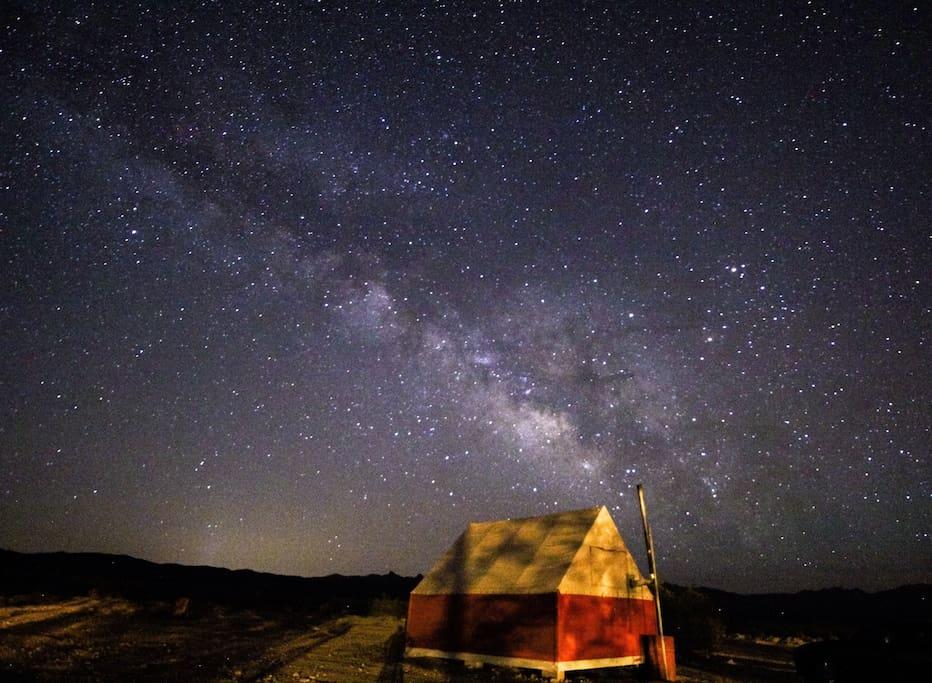 Nobu Namenta's (a guest) photo of Milky Way over cabin!