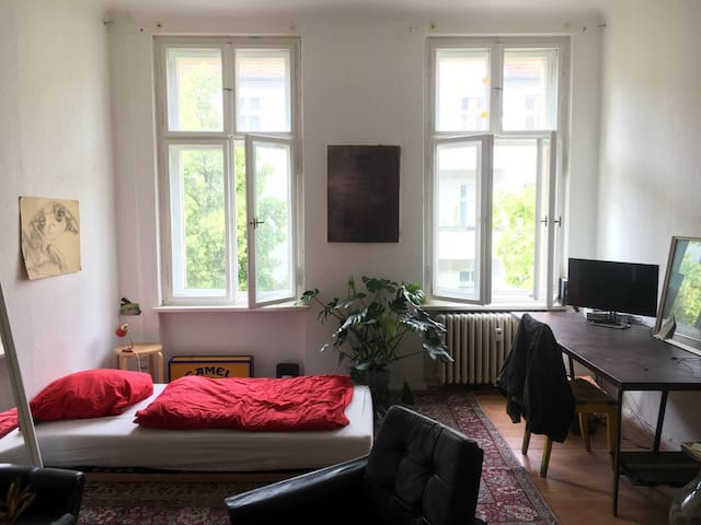 cozy, bright room in berlin's creative hotspot