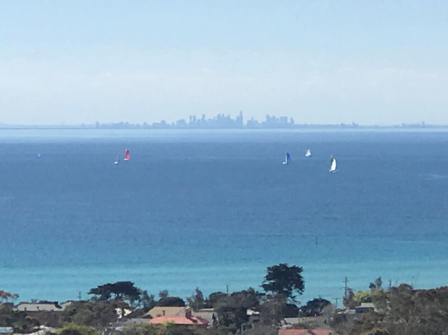 Amazing views of the bay and the city