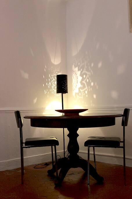 Table salon.