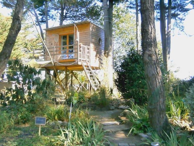 Manoir de l'Espérance Fishing cabin in the trees