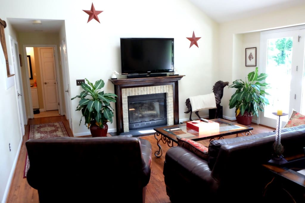 Main Floor Living room with fireplace.