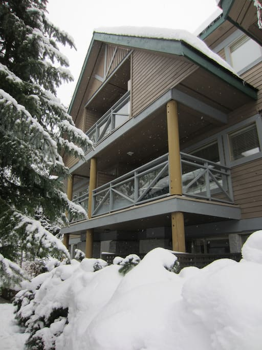 Exterior view of the unit (winter)