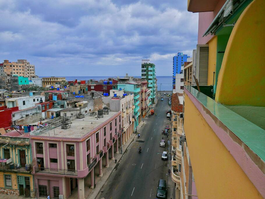 View from our balcony looking towards El Malecón.