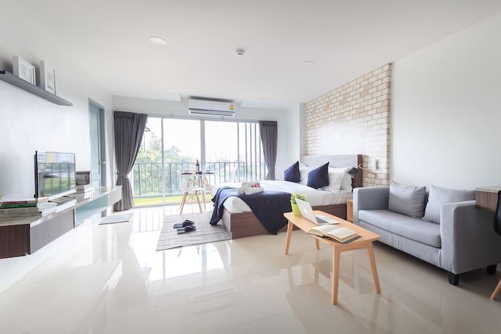 #303 Exclusive suites Private balcony(near subway) - Banguecoque - Apartamento com serviços incluídos