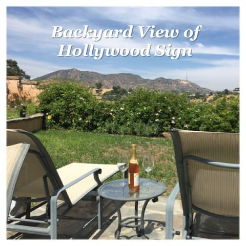 Away from Fires! VIEW of HOLLYWOOD Sign