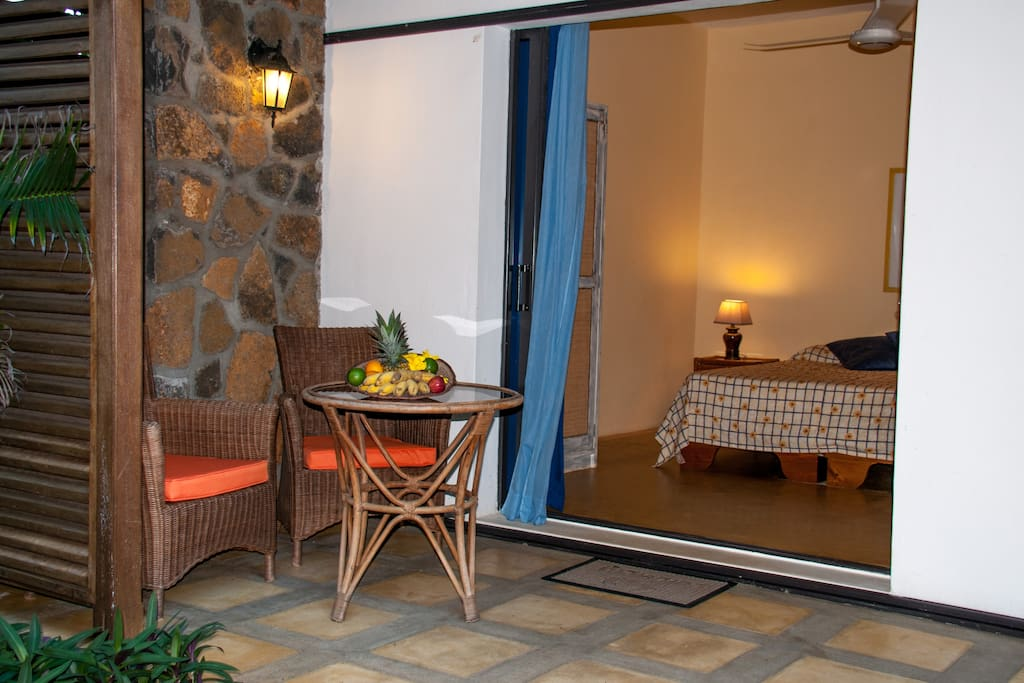 Room and private terrace