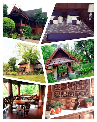 Northern Thai Teak Wood House - Rangsit - บ้าน