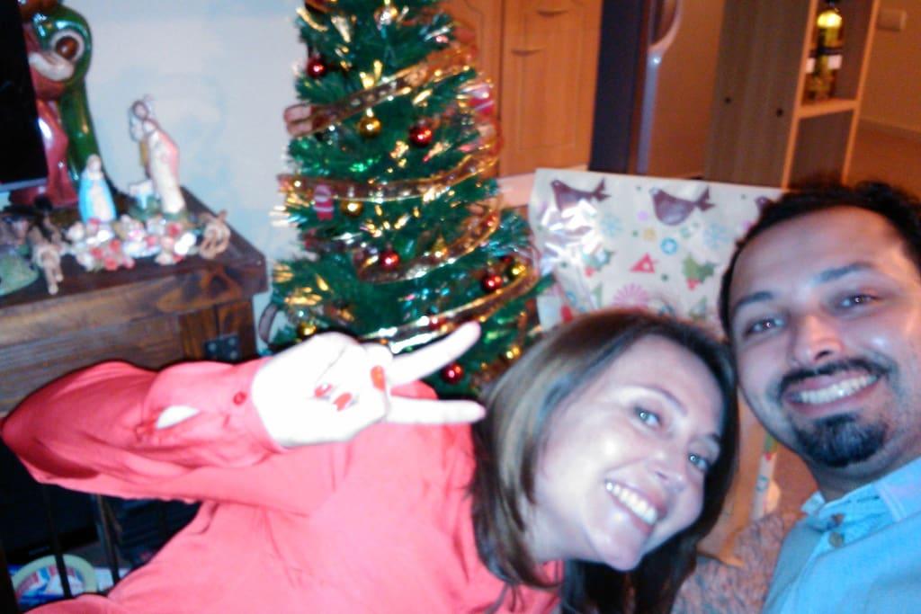 Celebrando Navidad en nuestra casa.