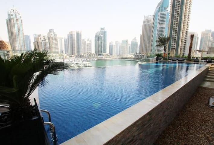 Dubaï marina luxury apartment sea & palm view